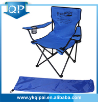 Hot cheap portable steel with cup holder and carry bag folding adjustable easy chair