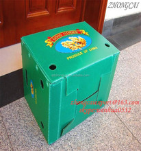 good quality best price folding corrugated plastic box / plastic handles corrugated packaging box