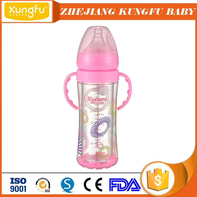 Famous baby products Zhejiang Factory of glass bottle Jinhua industrial feeders glass bottle silicone nipple