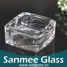 Bohemia Crystal Glassware Factory Direct Hot Promotional Round Ashtray,Square Glass Ashtray