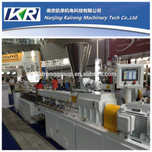 Plastic bags granules making machine/HDPE LDPE film recycling pelletizing twin screw extruder machine