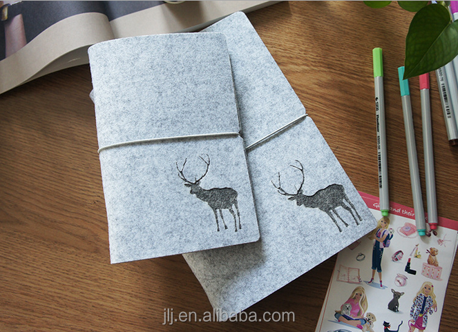 Loose Leaf Writing Paper Notebook Felt Cover High Quality Custom Notebook