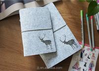 Loose Leaf Writing Paper Notebook Felt Cover High Quality Custom Notebook