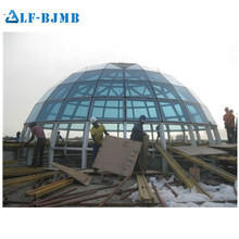 Moisture Resistant Steel Structure Glass Dome Roof Skylight With CE&CCC