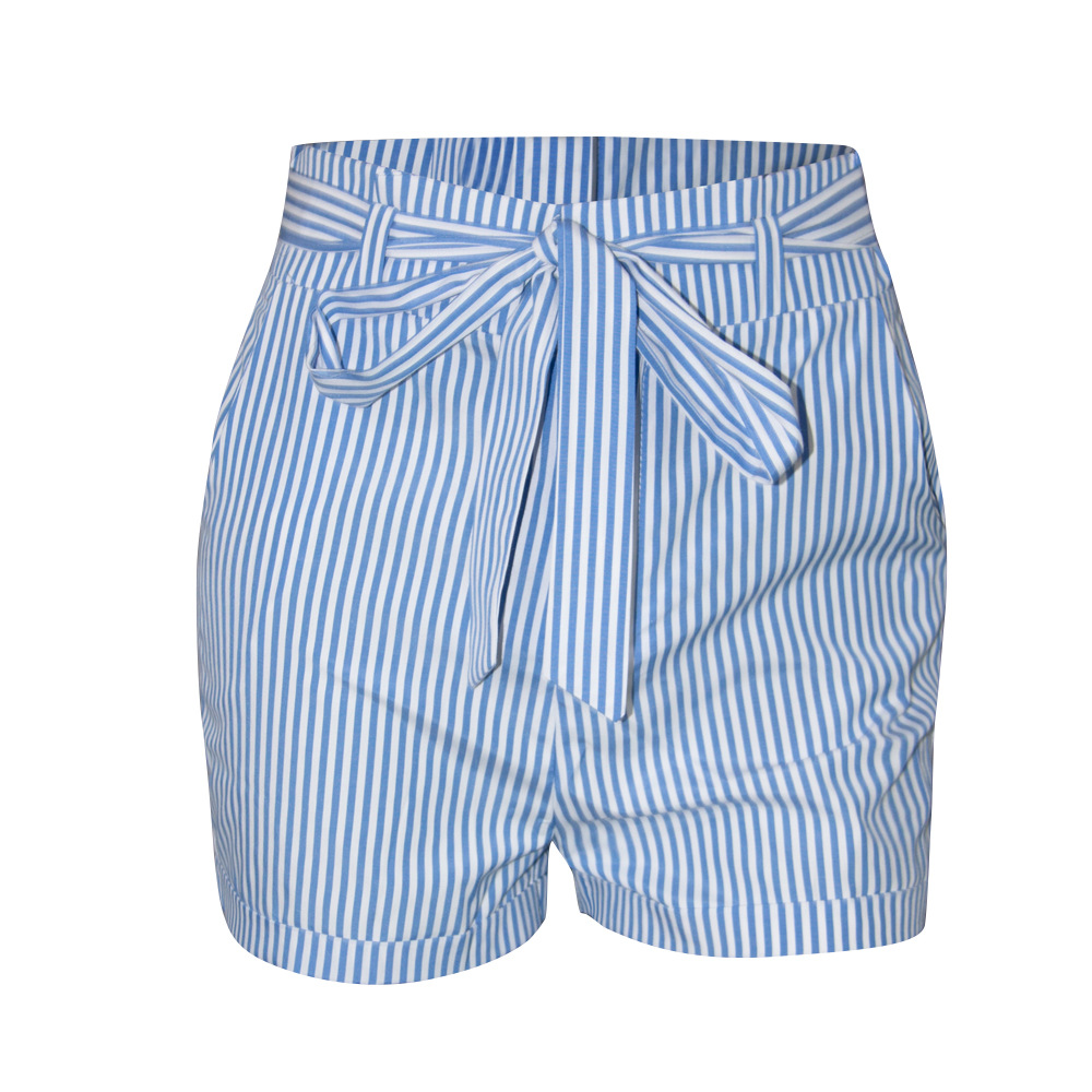 Stripe Bows Summer Shorts Hot Selling Women Icing Shorts Woman Casual Pants