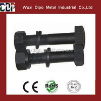 Hex Head Black Zinc Plated Carbon Steel Track Bolt with Washers and Nut