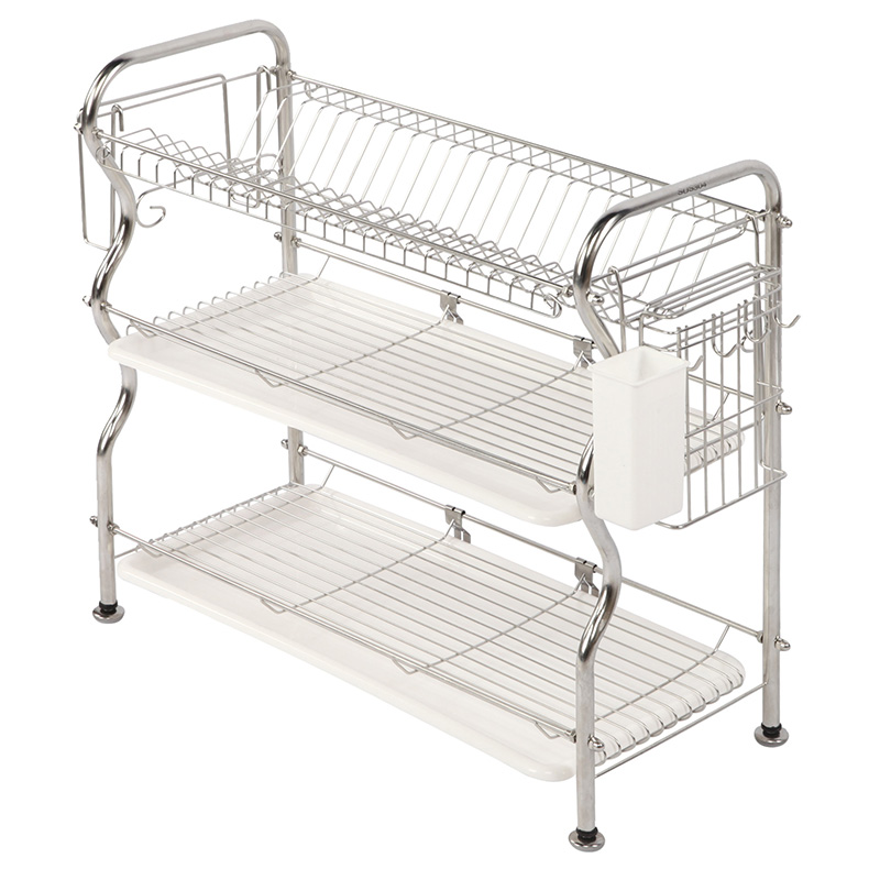 XM_445G Metal 3 tier Kitchen adjustable dish rack