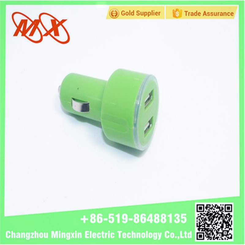 High Quality Mini 2 Ports USB Car Charger for all car model