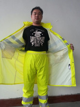 yellow raincoat cheap price made of PVC for motocycle and bicycle rain poncho