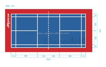 portable rubber badminton court floor mat