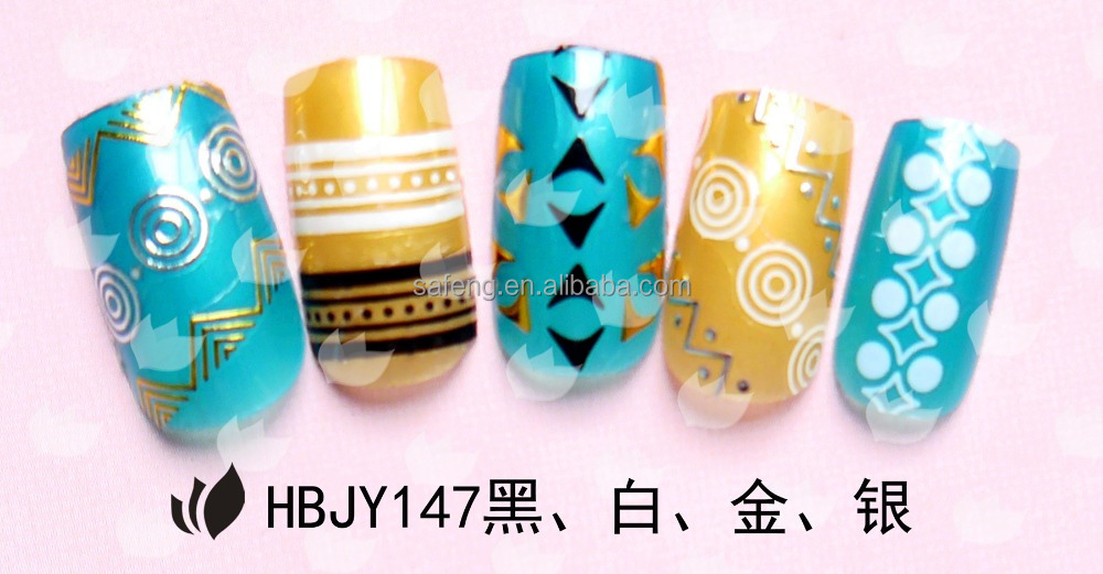 OEM factory price water transfer art nail stickers