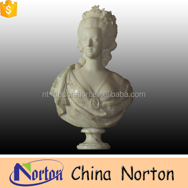 Italian life size marble bust statue of Mari Antoinette NTMS-002A