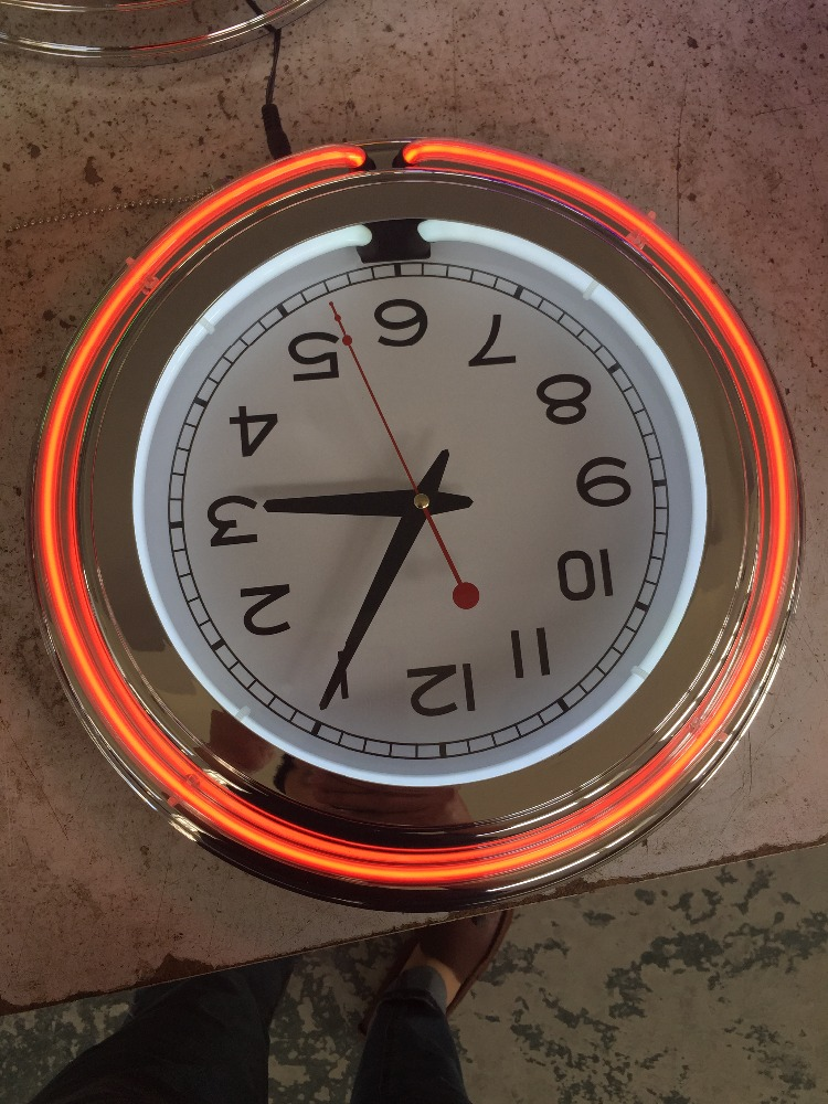 15 INCH NEON CLOCK Double Neon Light