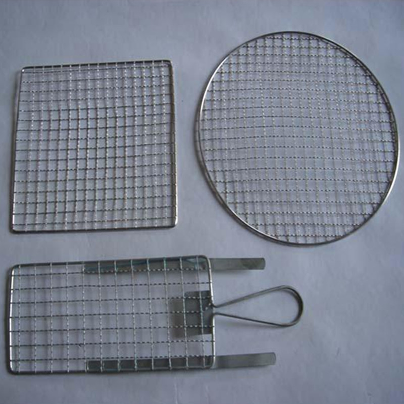 BBQ Grill Net with Two Wooden Handles