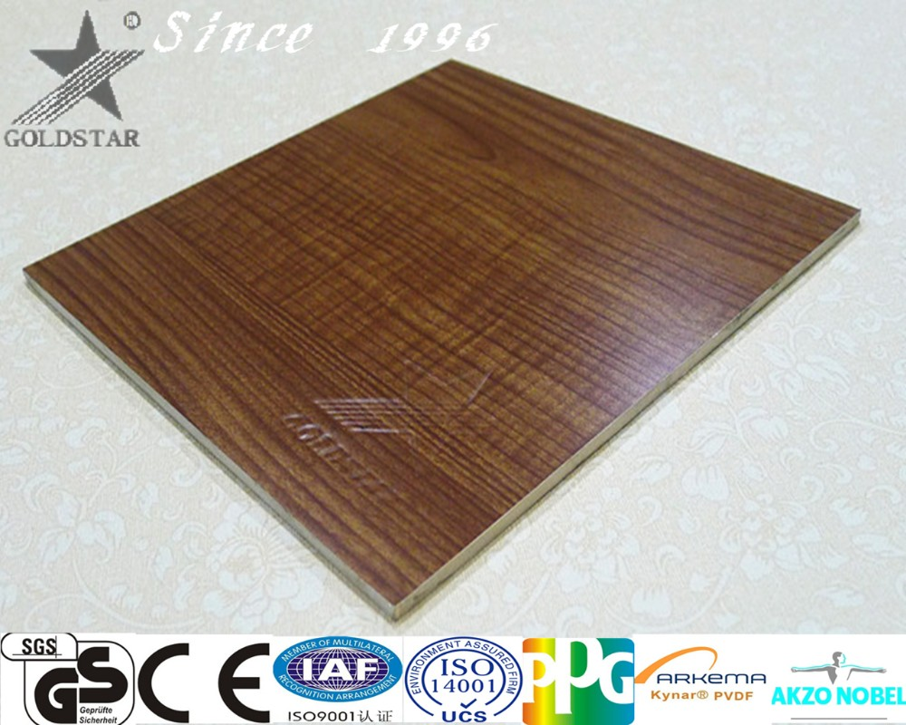 Foshan building material wooden furniture kitchen cabinet wall decration Aluminum composite panel