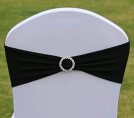 Hot Sale Wedding Lycra spandex chair cover sash band