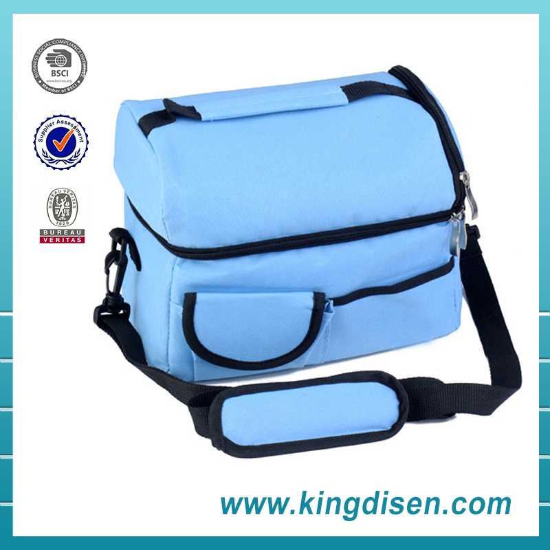 Wholesale Silver Interior detachable strap Picnic Cold Drink Insulation cooler bag for food