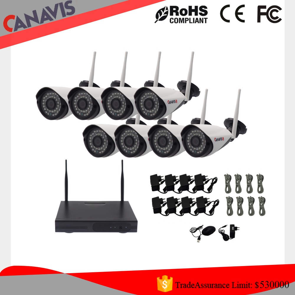 wholesale ip camera system wifi outdoor waterproof ir nvr kit