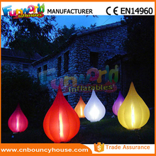 Inflatable Led Raindrop Shape Inflatable Led Air Cone for Sale