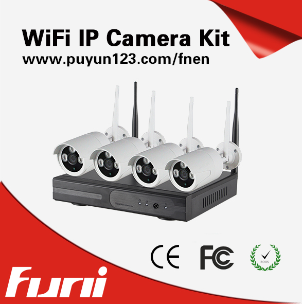 720P ip camera plug en play Outdoor/indoor IR Night Vision Home Surveillance WIFI CCTV System HD Wiresless NVR Kit 4CH 1TB HDD