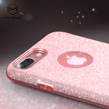 Smart Cheap Phone accessories Sparkling Shining ultra thin soft TPU Bling Bling Case for iPhone 7 plus