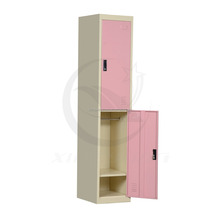 complete CKD double tier wholesale metal students locker/steel clothes cupboard