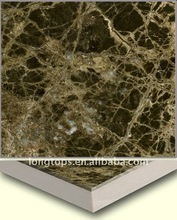 marron emperador dark marble laminated with ceramic tile