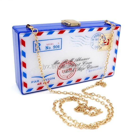 Personality Acrylic Clutch Bag Small Shoulder Bags Ladies Day Clutches Purses