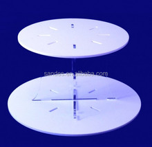 Beautiful Design White Acrylic Cupcake Dessert Stand Perspex Wedding Cupcake Stand