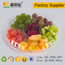 Plastic 6 packs cut fruit containert box with lid wholesale