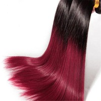 Ombre Bundles Hair Weaves, Sew In Human Hair Ombre Weave
