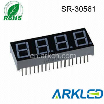"7 segment .56"" 4 digit LED display common anode"