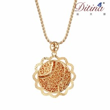 Dubai gold jewellery with sun gold chain pendant jewelry necklace for men