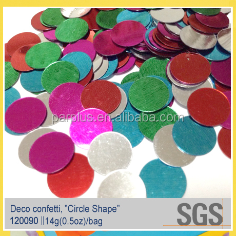 Multi-color Size Available Coin Shaped Metallic Confetti