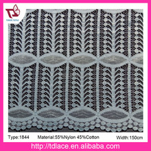 2017 knitted polyester lace fabric,high quality jacquard textile for dress