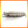 High Quality Brass Material Silver Plated Leaf Tie Bar