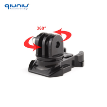 QIUNIU 360 Degree Rotating Mount Quick Assembling Adapter Buckle Swivel for Gopro Hero 4 3+ / 3 / 2 SJ4000 Xiaomi Yi Camera
