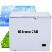 easy install dc 12v 24v 200L solar deep chest freezer