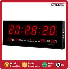 2017 New Wall Design Big Mini Table Digital Calendar Led Clock