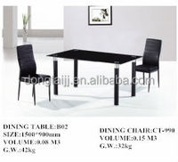 B02/DC-990 2014 Hot Sale Glass Dining Table and Chair Set/Long Dining Room Tables/Classic Dining Table