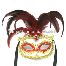 HOT high quality fashion party costume venetian mask exquisite sexy masquerade feather mask