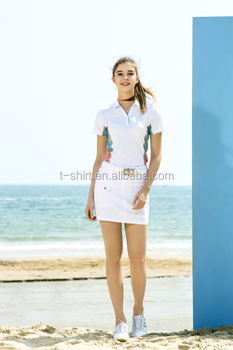 ladies' polo shirt and skirt golf shirt