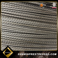Post tensioned 8mm cold reduce steel wire for sale