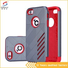 Hot selling tpu pc silver color low price china mobile phone cases for iPhone 5s