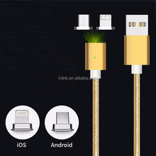 Magnet Charger Cable for Android Cell Phone Micro USB Data Cable for Samsung for iPhone Magnetic Charging Cable