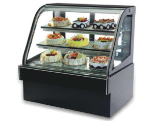 Upright Marble Display Bakery Refrigerator Cabinet with Customized Color