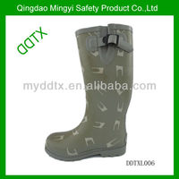 Casual trendy waterproof rain boots high heel rubber women