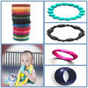 Fashion Silicone Bangle/Food-safe Nursing Teething hot selling food grade silicone elastic bead bracelet
