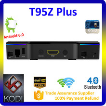 Play Store App Free Download 2G 16G Kodi 17.0 Smart Tv Box T95Z Plus HD Sex Pron Video Tv Box With LED Display
