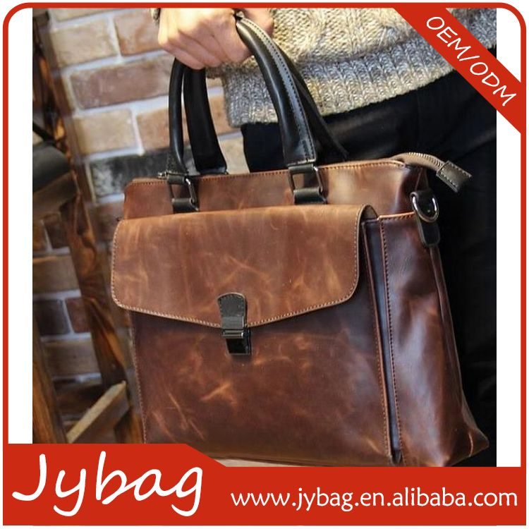 Top grade good quality genuine leather executive briefcase